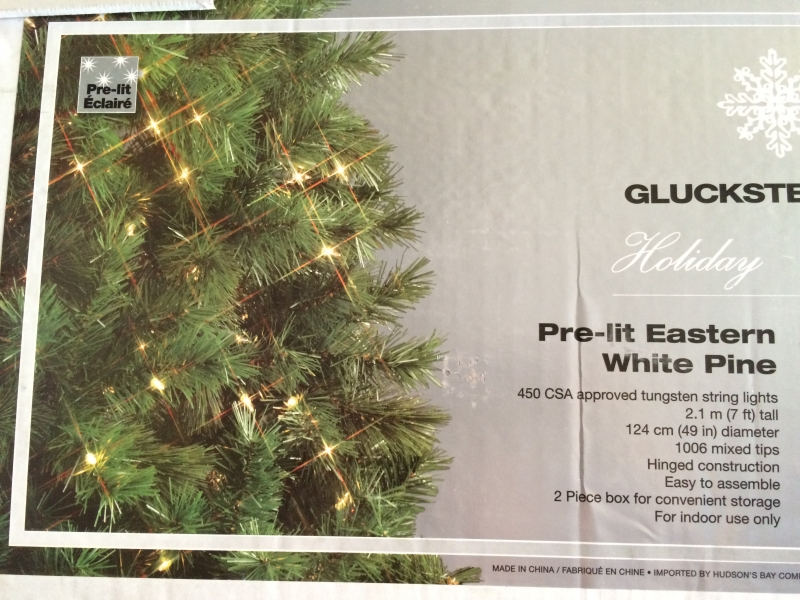 GLUCKSTEIN HOME CHRISTMAS TREES PRE-LIT & UNLIT -new In