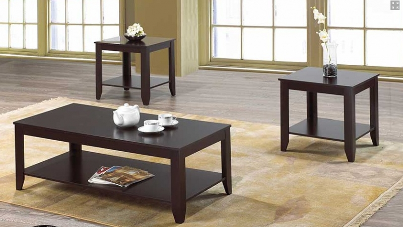 FREE DELIVERY- 3 PCS COFFEE TABLE SET SOLID WOOD/FAUX