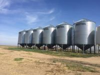 Grain Bins 6 x 1805 Westeel Hopper Bins