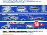 Parts and Accessories CATALYTIC CONVERTERS, MUFFLERS, BRAKES, FLEXES AND MORE