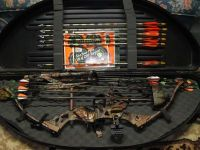 "Guns & Hunting Supplies Fred Bear ""Code"" Compound Bow/Acces"