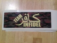 Guns & Hunting Supplies INFIDEL/TEAM INFIDEL STICKERS/AIRBORNE REGIMENT STICKER