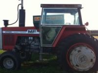 AgGPS Sales & Service 1978 Massey Fergusson Tractor and Bail King