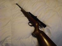 Guns & Hunting Supplies Remington 22 with scope, model 525