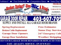 Home & Garden Services Garage Door Calgary - Abc Garage Door Repair 403-607-7053