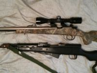 Guns & Hunting Supplies Remington 50 cal, and Sks. 2 Rifles for sale.