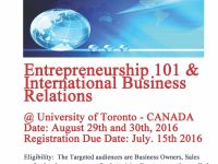 General Services Entrepreneurship 101 & Intl Business Relations Workshop