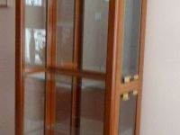 Furniture Display cabinet w/mirror back,top light /adjustable shelves