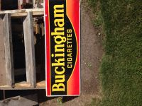 Antiques Bucking ham cigerete sign