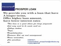 General Services Long and short term loan of $5,000-$60,000 at ProsperLoan