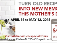 Major Appliances Celebrate Mother's Day with KitchenAid Visa Prepaid Card