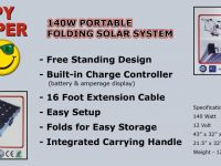 Travel Trailers Folding Solar Charging System
