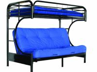 Furniture BRAND NEW METAL BUNKBED C-SHAPE FUTON - SINGLE & DOUBLE