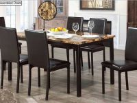 Furniture FREE DELIVERY MARBLE TOP 5 OR 7 Pcs DINING SET/METAL FRAME