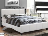 Furniture FREE DELIVERY!!! BEAUTIFUL LEATHER BED WITH ADJUSTABLE HEADB