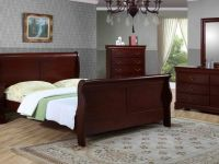 Furniture 8 PCS SLEIGHT BED BEDROOM SET SOLID WOOD-BRAND NEW FREE DELI
