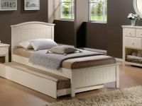 Furniture BEAUTIFUL SOLID WOOD PRINCESS BED WITH TRUNDLE SINGLE FREE D