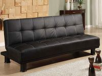Furniture BRAND NEW FIRM THICK  LEATHER CLICK CLACK - SOFA BED FREE DE