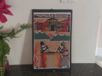 Furnishings and Decorations African Sand Art Painting Handmade, Two women drawing water