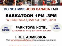 Contact Centre Jobs FREE: Saskatoon Job Fair – March 20th, 2019