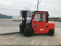 General Equipment Nissan 11000 lb heavy duty forklift w/cab in excellent condition