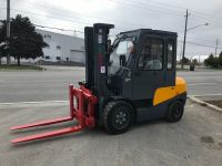 General Equipment ATF Cab forklift 7000 lb with fork positioning rotator