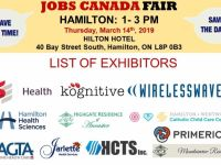 Sales Jobs FREE: Hamilton Job Fair - March 14th, 2019