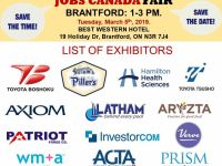 Administrative Jobs FREE: Brantford Job Fair– March 5th, 2019