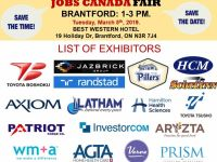 Sales Jobs FREE: Brantford Job Fair– March 5th, 2019