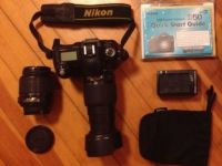 Electronics Nikon D50 6.1MP DSLR Bundle &18-55mm and 55-200mm AF-S DX Lenses