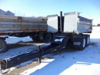 Highway Trailers 1975 GEVINCY 13' GRAVEL PUP END DUMP
