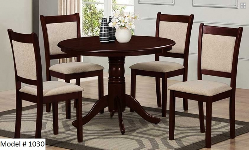 Solid wood 5pcs dinning set with 42 round table free for Home decor yorkton