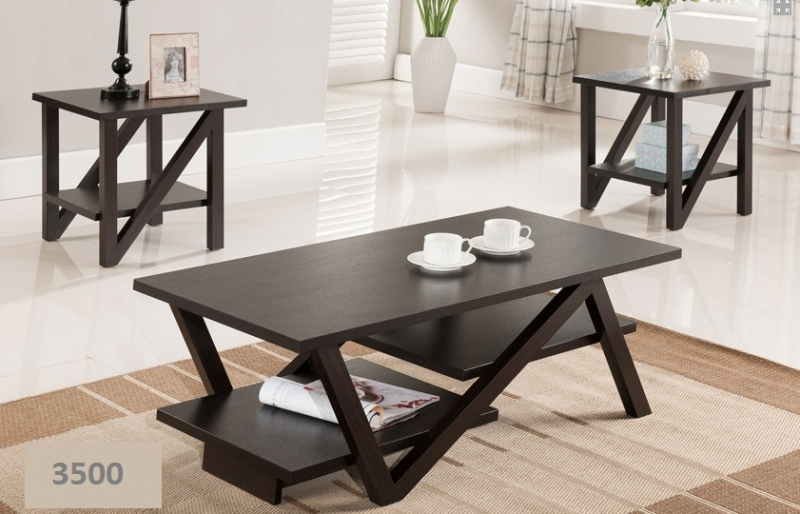 Brand new solid wood 3pcs coffee table set free delivery for Coffee tables london ontario