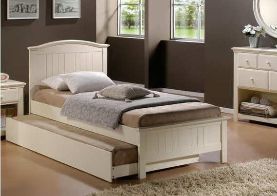 BEAUTIFUL SOLID WOOD PRINCESS BED WITH TRUNDLE SINGLE FREE