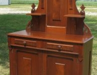 Antique Jacques & Hay Victorian Walnut Buffet Sideboard