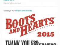 One GA Boots and Hearts Ticket