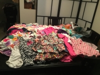 Baby girl clothing  size 3-6 months and bassinet 35 for all